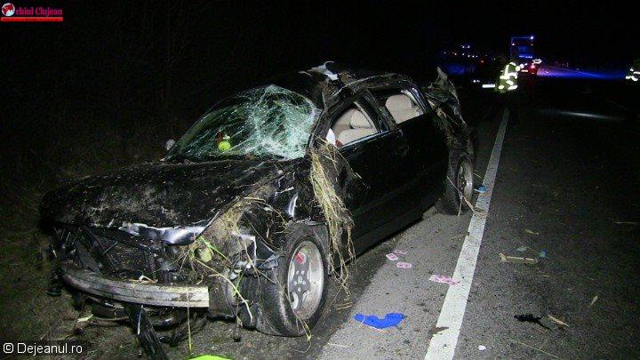 Accident MORTAL pe un drum din Cluj! O persoană a decedat VIDEO
