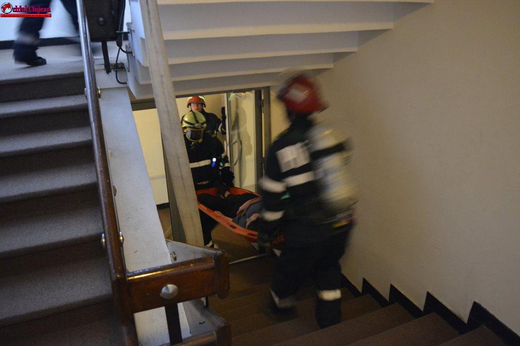 Intervenție a pompierilor clujeni la Hotelul Napoca  FOTO