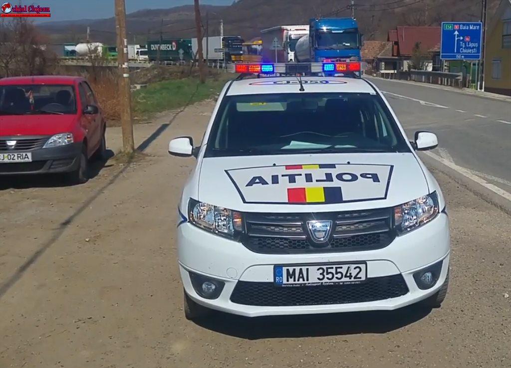 Vitezoman depistat de polițiști la Iclod