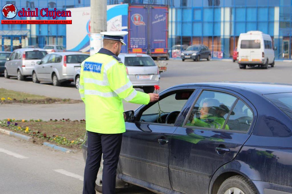 Poliția clujeană în acțiune de 8 martie FOTO