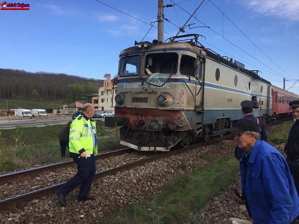 Accident de tren la Jucu FOTO