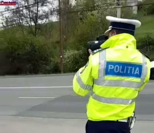 Cluj: Acțiuni ale polițiștilor pentru reducerea accidentelor rutiere pe fondul vitezei excesive VIDEO
