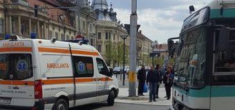 Pieton lovit de un autobuz în centrul Clujului  FOTO