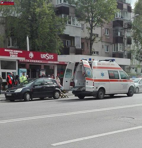 Accident în Zorilor! Pieton accidentat de o mașină în timp ce traversa prin loc nepermis FOTO