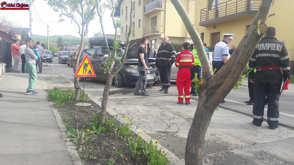 Accident pe strada Câmpului produs de un șofer beat  FOTO