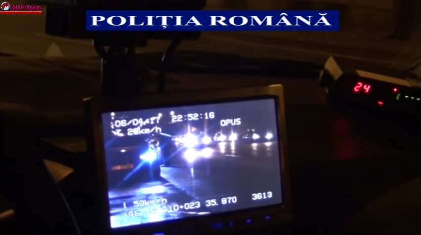Cluj: Acțiuni ale polițiștilor pentru respectarea regimului legal de viteză
