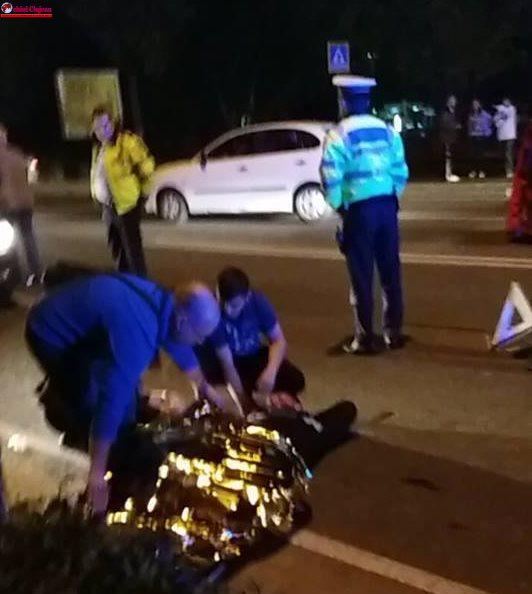 Pieton rănit de o mașină pe trecerea de pietoni lângă ștrandul SUN UPDATE FOTO-VIDEO