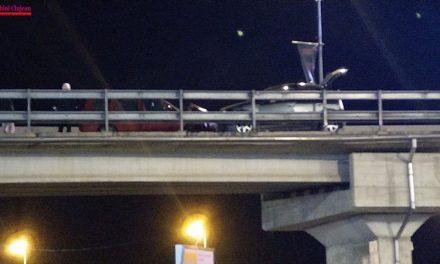 Accident pe podul de la Vivo FOTO