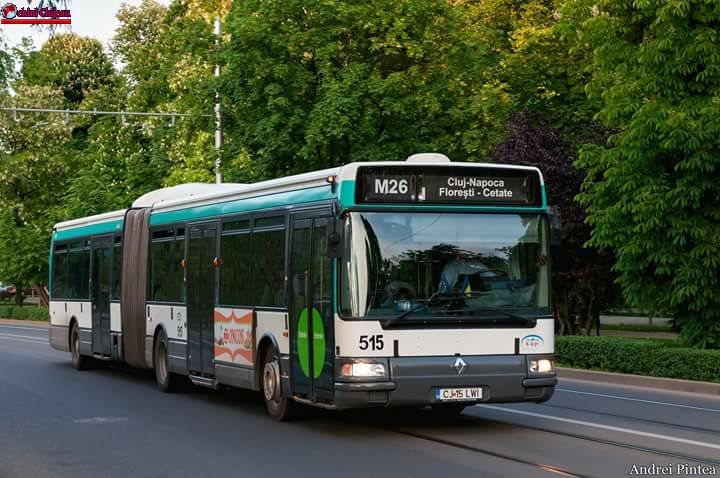 CTP Cluj: Modificări de traseu pentru liniile 101 și M26, cu ocazia desfășurării Crosului Companiilor
