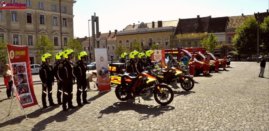 ISU Cluj: Motociclete SMURD intervin în Cluj-Napoca pentru acordarea primului ajutor în situaţii de urgenţă, cu sprijinul financiar LIDL România FOTO