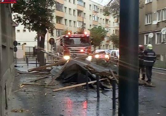 ISU Cluj: 96 de solicitări, 44 de localităti afectate, 5 persoane rănite ușor