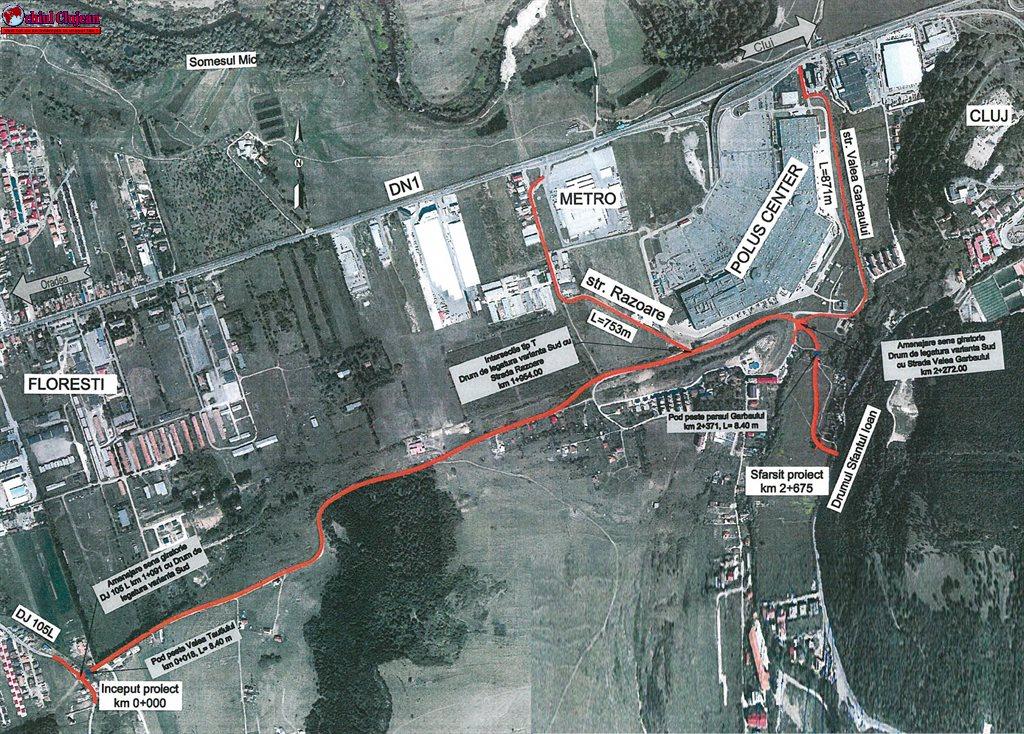 Consiliul Județean a eliberat autorizația de construire pentru un sector al centurii de sud a Floreștiului