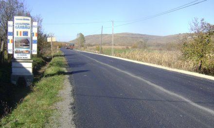Au fost finalizate lucrările de asfaltare pe drumul județean 108C Gârbău – Aghireș FOTO