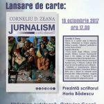 """Lansarea cărții """"Jurnalism – O artă efemeră?"""", autor Corneliu D. Zeana"""