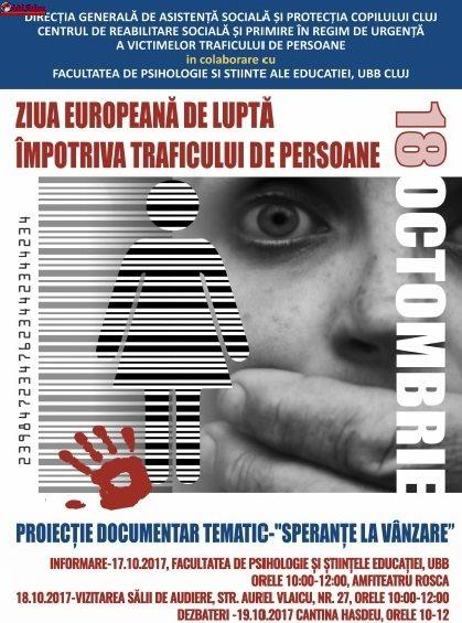 18 octombrie – Ziua Europeană de Luptă Împotriva Traficului de Persoane
