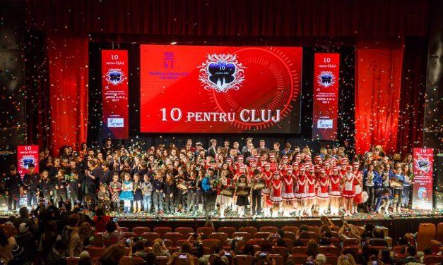 """Cea de-a noua ediție a Galei """"10 pentru Cluj – Juniorii Clujului – Speranţele Cetăţii"""" și-a anunțat câștigătorii FOTO"""