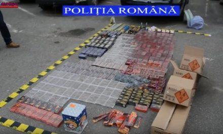 Produse pirotehnice confiscate de poliţişti