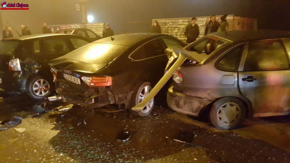 Accident cu 7 mașini pe Calea Dorobanților FOTO