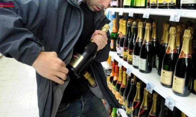 Cluj: Reținut după ce a furat o sticlă de băutură dintr-un magazin