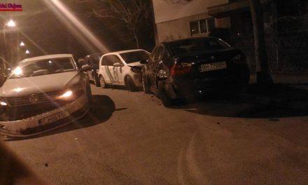 Un șofer beat la volan a făcut prăpăd pe strada Gheorghe Dima FOTO