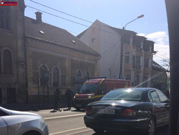 Cluj: Pieton cu handicap accidentat mortal de o ambulanță SMURD aflată în misiune FOTO