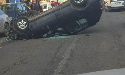 Accident pe strada Crângului din Dej FOTO