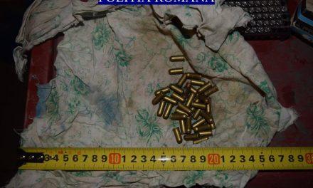 Cluj: Armă letală, cartușe și capse, deținute ilegal, ridicate de polițiști FOTO