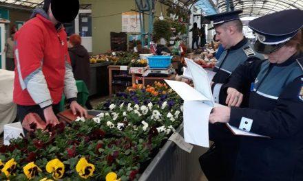 Piețele din Mănăștur, luate la puricat de polițiști FOTO