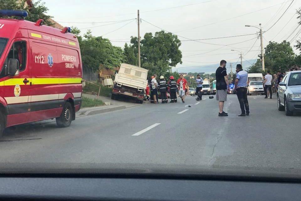Accident MORTAL pe strada Oașului. Un motociclist și-a  pierdut viața FOTO-VIDEO