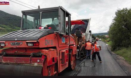 Cluj: Se execută lucrări de asfaltare pe drumul județean 109C Fizeșu Gherlii – Sântioana – Ţaga