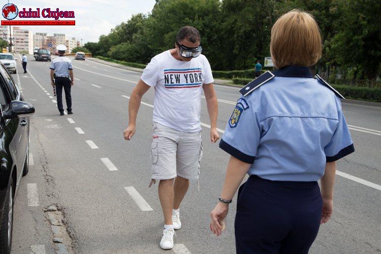 Acțiune a polițiștilor clujeni. Șoferii au fost sancționați cu înghețată FOTO