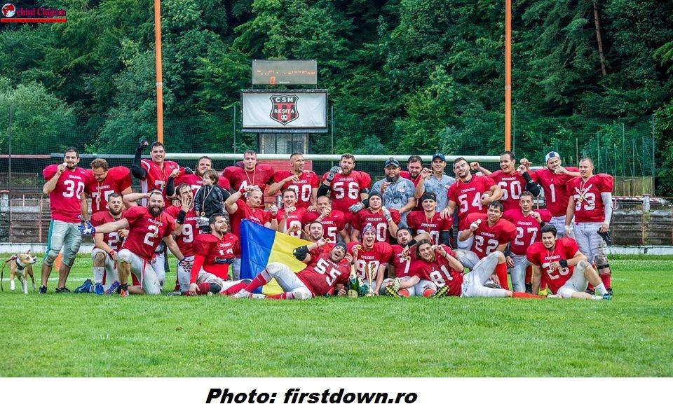 FOTBAL AMERICAN: Cluj Crusaders îşi apără titlul de Campioană Naţională