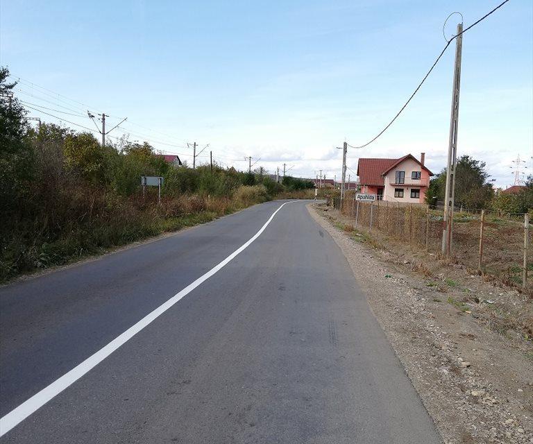 Lucrări de marcaje rutiere pe drumul judeţean 161A Apahida – Morişti