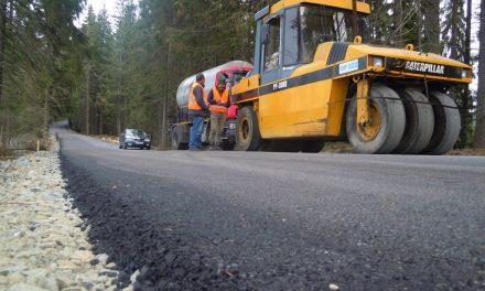 Lucrări de asfaltare pe drumul județean 107P (DN 1) Gilău – Someșu Rece – Mărișel – DN 1R