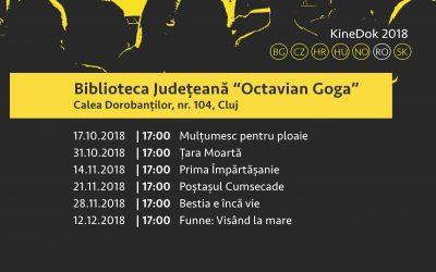 """KineDok, ediția a IV-a, la Biblioteca Județeană ,,Octavian Goga"""" Cluj"""