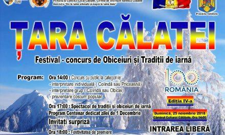"""Festivalul-concurs județean de obiceiuri și tradiții """"Țara Călatei""""- ediția a IV-a"""