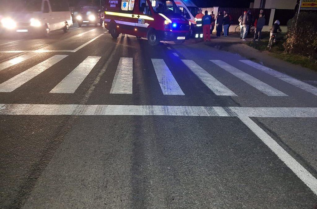 Accident MORTAL la Răscruci. Bărbat spulberat de un autobuz pe trecerea de pietoni FOTO