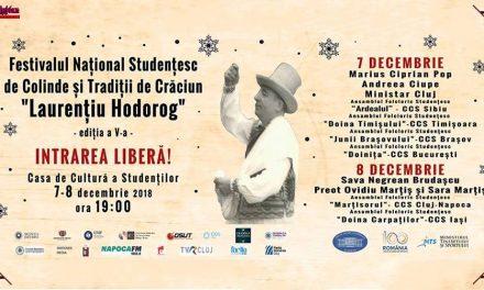 """Festivalul Național Studențesc de Colinde și Tradiții de Crăciun """"Laurențiu Hodorog"""" Ediția a V-a"""