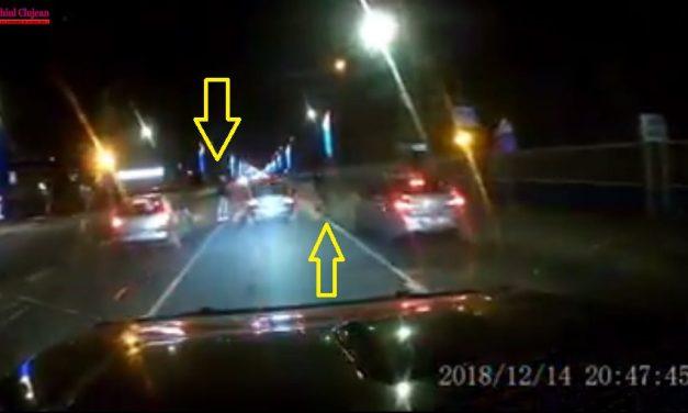 Cu 100 de km/h pe o trecere de pietoni, din Florești. Doi pietoni la un pas să fie spulberați  VIDEO