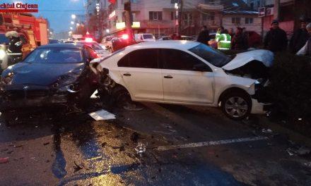 Accident pe Dorobanților! 5 autoturisme implicate FOTO