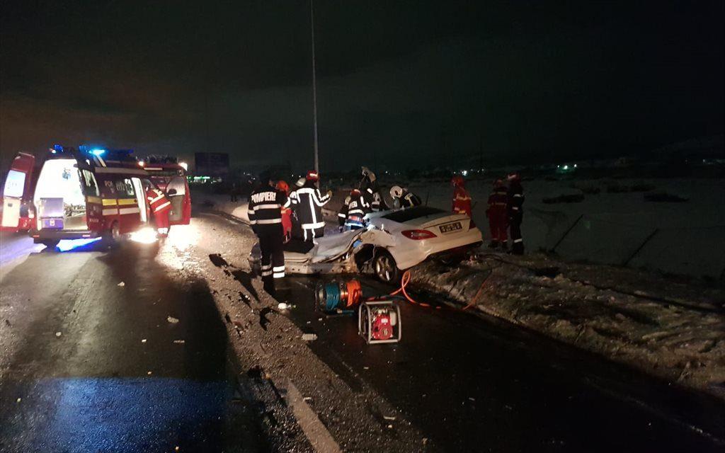 Accident MORTAL la intrare în Cluj-Napoca, provocat de un șofer drogat FOTO