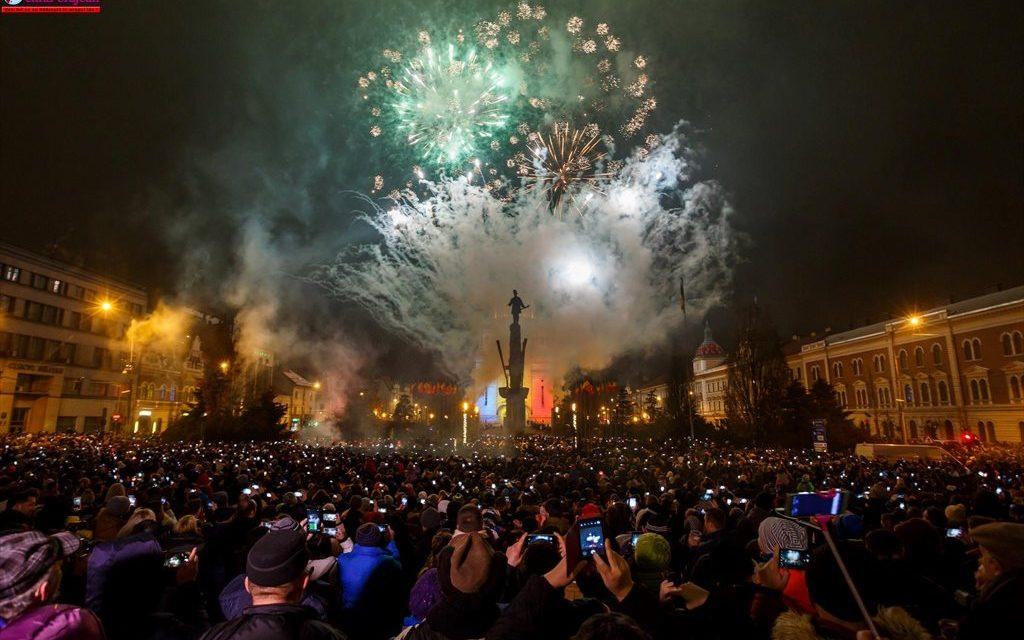 REVELION 2019: Spectacol de artificii în Piața Avram Iancu FOTO-VIDEO