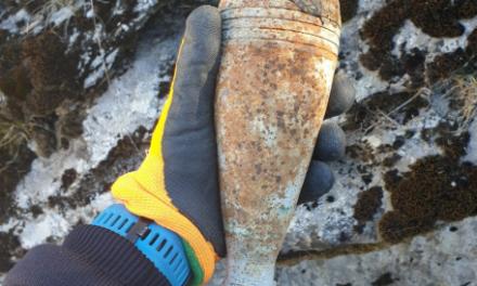 Cluj: Bombă de aruncător și două proiectile, găsite de un grup de copii FOTO