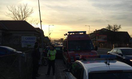 Biciclist lovit de o mașină în Florești FOTO