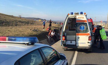 Bicicliști răniți pe un drum din Cluj FOTO