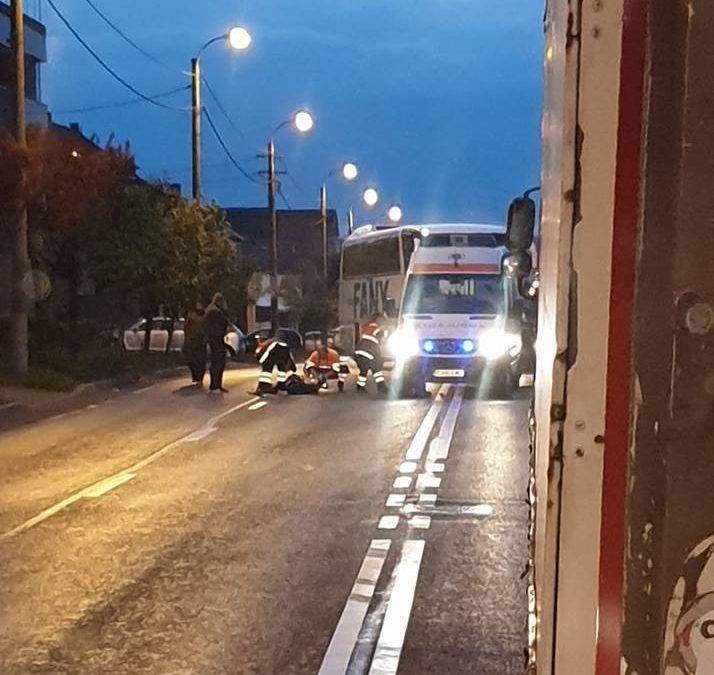 Pieton accidentat MORTAL pe strada Corneliu Coposu FOTO
