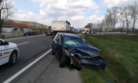 Accident cu patru victime la Jucu FOTO