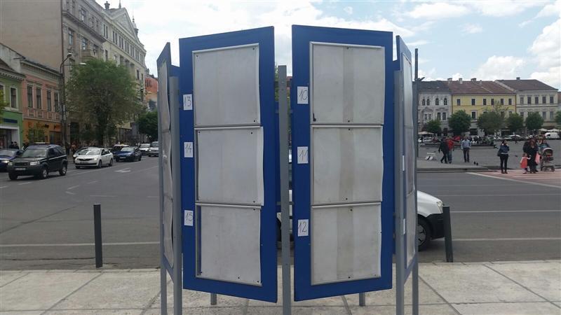 15 locuri speciale pentru afișaj electoral în municipiul Cluj-Napoca