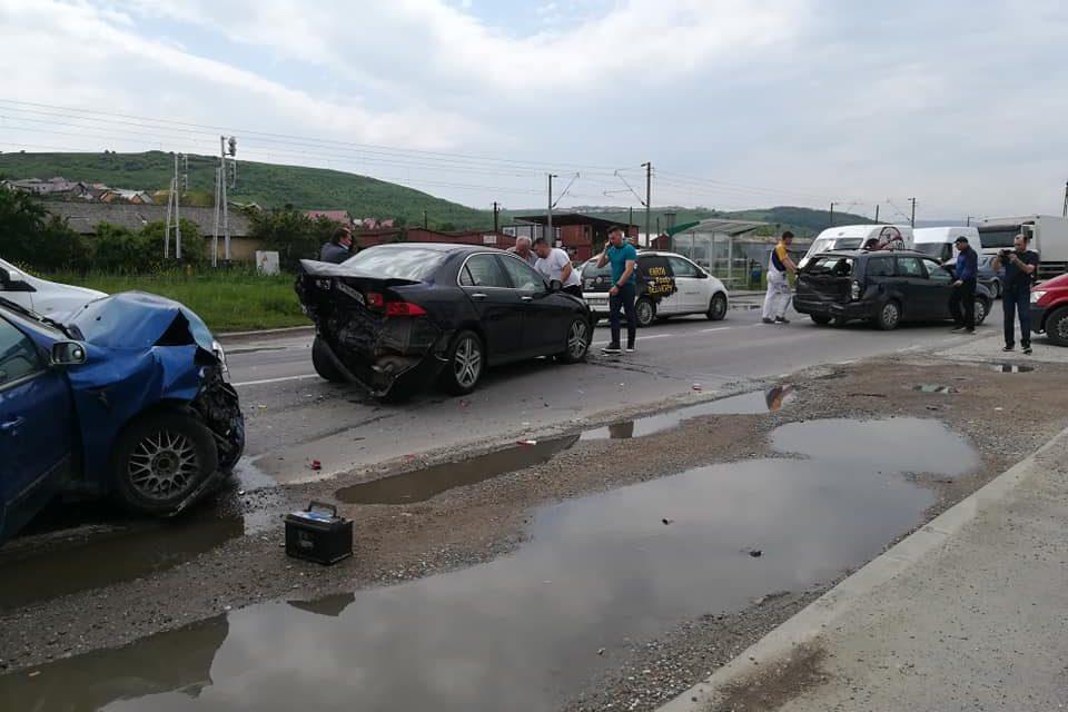 Accident cu trei victime la Sânnicoara FOTO