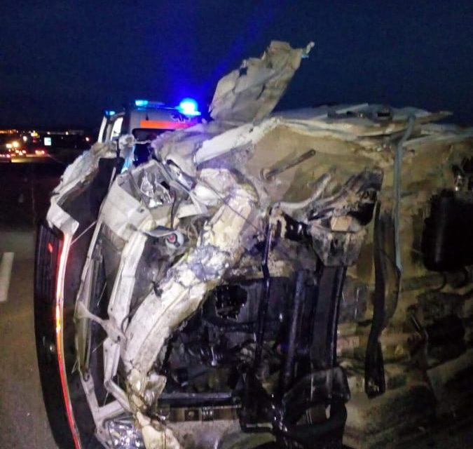 Accident pe autostrada A3, o persoană rănită